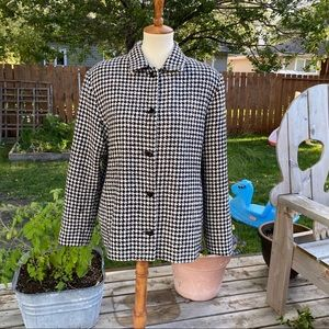 Tanjay Blazer Houndsooth Button Down Lined